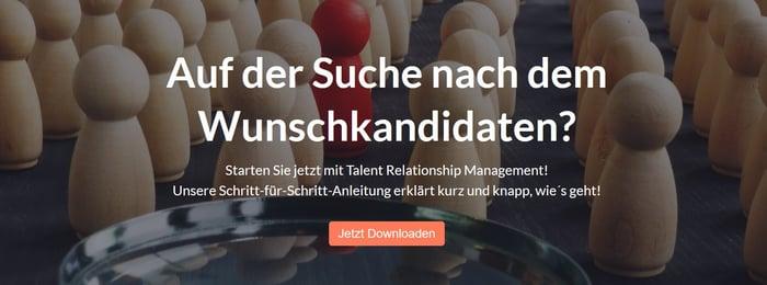 In drei Schritten zum Talent Relationship Management