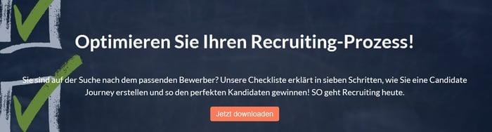 Checkliste Candidate Journey
