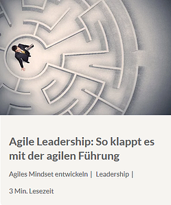 Agile Leadership - Leseempfehlung